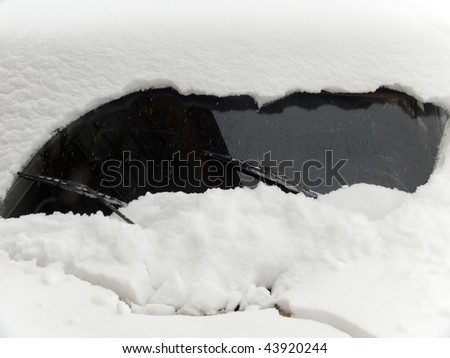 Snow  glass   car