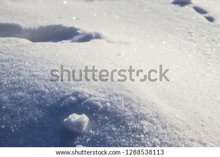 Snow glistens in the sun