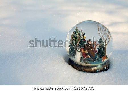 snow globe and empty space for your text