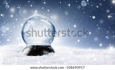 Snow Globe - Christmas Magic Ball  - Shutterstock ID 508690957