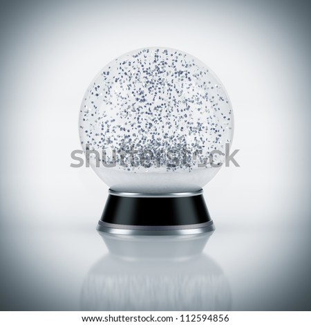 Snow globe on white background