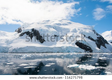 Snow hill in Antarctica, Lemaire channel
