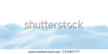snow isolated on white background #531085777