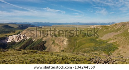 Snow Mesa, Rocky Mountains, Colorado, USA