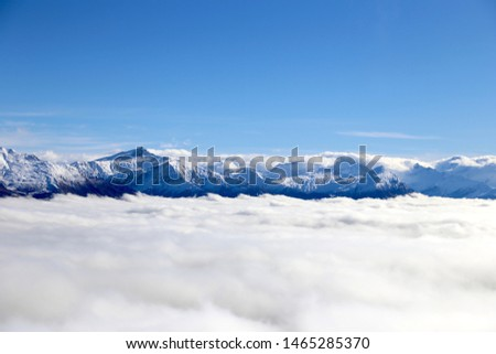 Snow Mountain and Blue Sky #1465285370