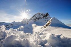 Snow mountain at Jungfraujoch, Switzerland