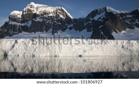 Snow mountain in Antarctica
