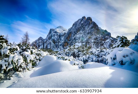 Snow mountain landscape #633907934