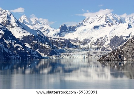 Snow Mountain on Water