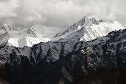 Snow mountain range, Leh Ladakh, India