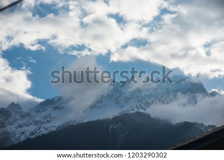 Snow mountain vallay in northern india #1203290302