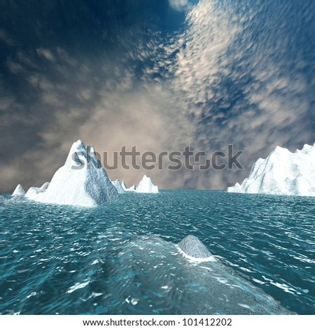 Snow mountain with nice sky