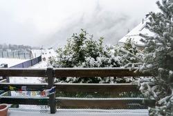 Snow mountains at the Pirineos