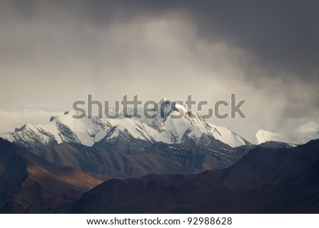 Snow mountains in Indian Hymalayas