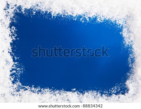 Snow on blue pattern. Plenty of text space #88834342