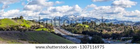 Snow on top of Mount Diablo, California. Foto stock ©