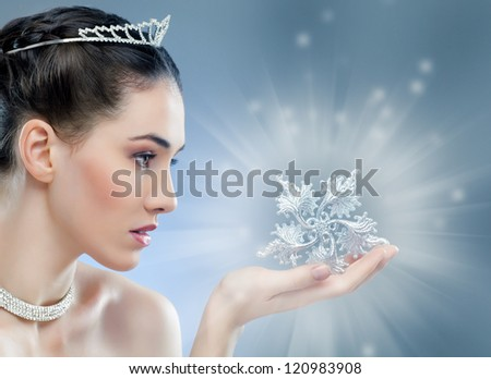 snow Queen with a crown