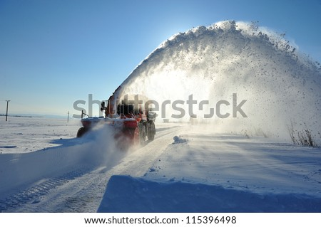 snow removal cleaning road