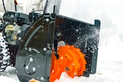 snow removal with the help of special equipment
