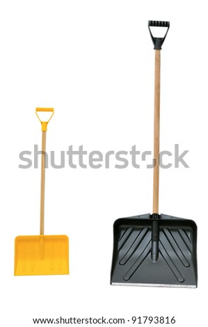 snow shovels - stock photo