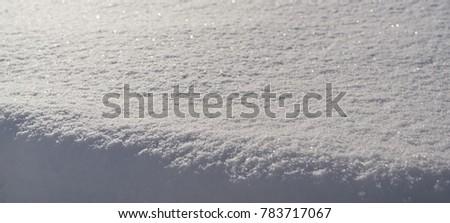 Snow, snow background, snow pattern, natural background. White snow.  #783717067