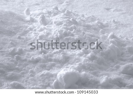Snow Texture Background, Bright New Fresh Sparkling Drift Heap In Slight White Blue, Detailed Sunny Closeup, Gentle Shadows