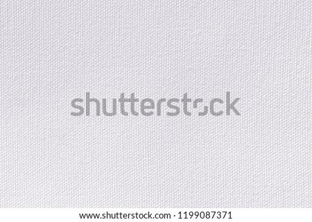 Snow white canvas background. Surface of fabric texture in white winter color. #1199087371