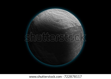 Snow White, winter planet, photo texture, isolated on black