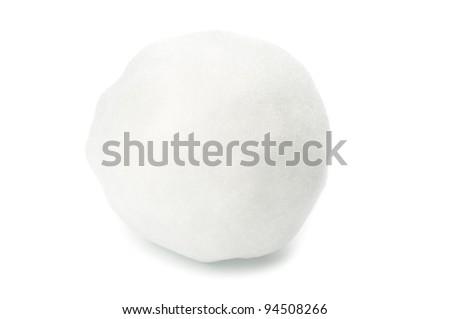 Snowball closeup on white background