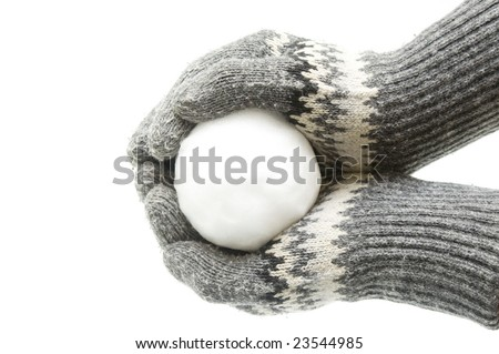 Snowball in palms