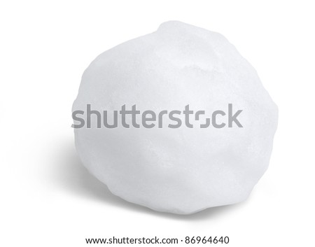 snowball in white back with shadow