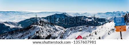 Snowbird Panorama, Utah Stock fotó ©