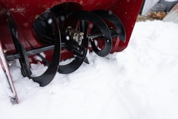 snowblower blades have been repaired and it is ready to work