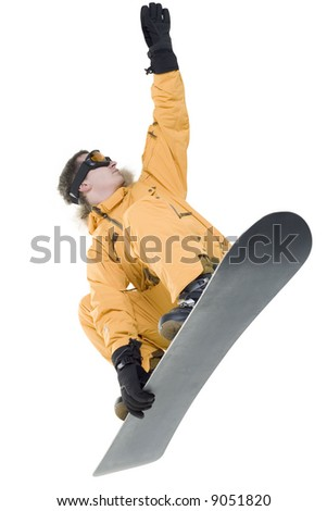 Snowboarder isolated