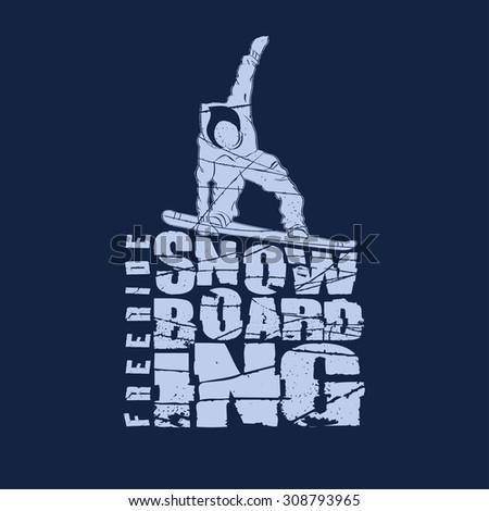 Snowboarding winter sport emblem