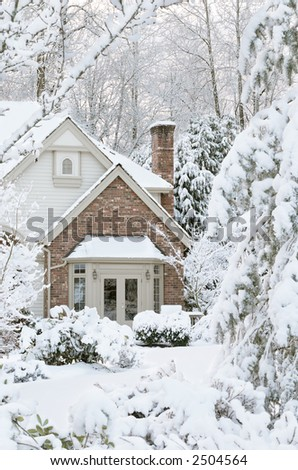 Snowbound house, the morning after a snowstorm