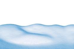 Snowdrift isolated on white background.