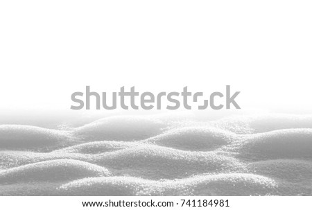 Snowdrift isolated on white background for design #741184981