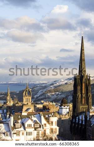 Snowfall in Edinburgh