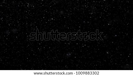 Snowfall on a black background #1009883302