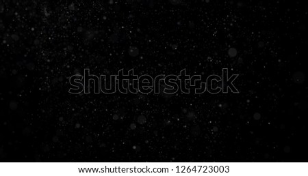 Snowfall on a black background #1264723003