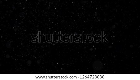 Snowfall on a black background #1264723030