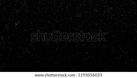 Snowfall on a black background. 3D rendering #1193056033
