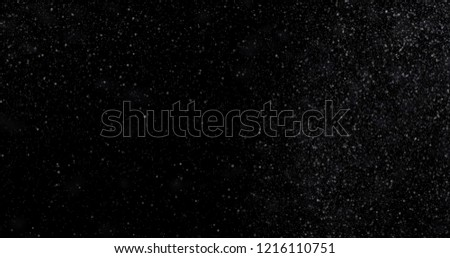 Snowfall on a black background. 3D rendering #1216110751