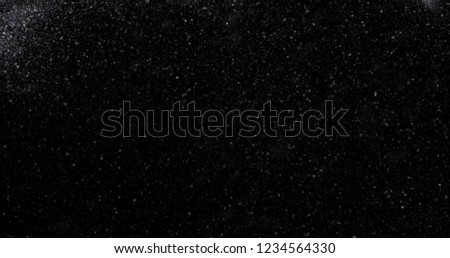 Snowfall on a black background. 3D rendering #1234564330
