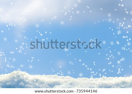 snowfall, snow flakes, winter background #735944146