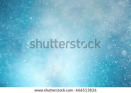 Snowfall texture of snowflakes on blurry background design weather #666513826