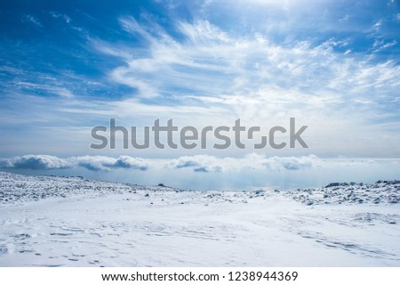 snowfield with sky  Stock photo ©