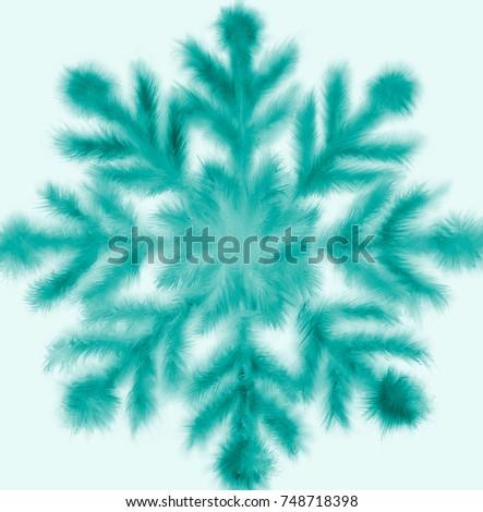 Snowflake. Blue snowflake on the white background. #748718398