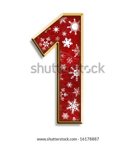 Snowflake Christmas Number One
